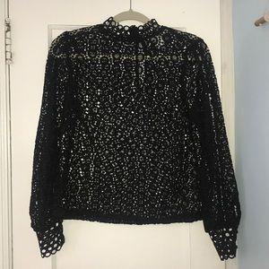 Black Lace Blouse.